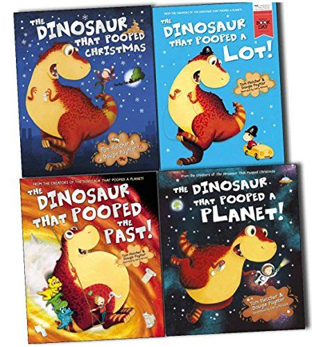 The Dinosaurs That Pooped Collection 4 Books Pack Set (The Dinosaur That Pooped A Lot!, The Dinosaur That Pooped The Past, The Dinosaur That Pooped Christmas, The Dinosaur That Pooped A Planet) by Tom Fletcher and Dougie Poynter http://www.amazon.co.uk/dp/B00UBYW7Y2/ref=cm_sw_r_pi_dp_2N10vb0YEH3P6