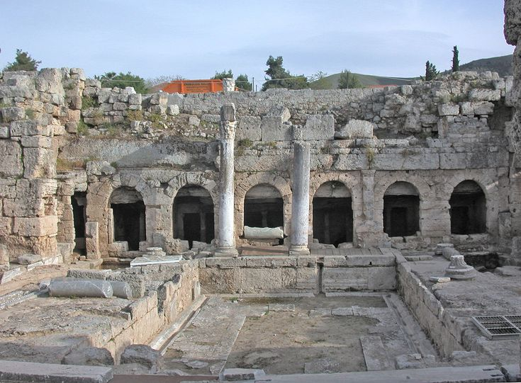 The ancient Roman fountain, Corinth