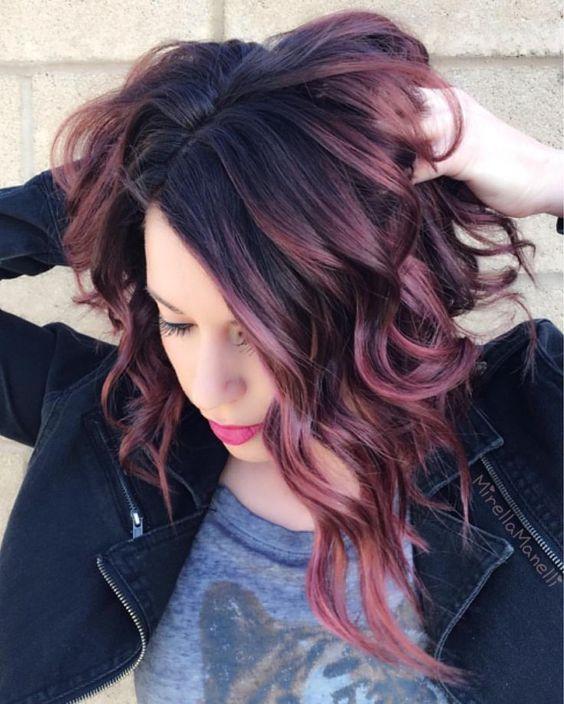 Dusty Lavender, Violet Hair for Brunettes...hair color ideas for brunettes for summer