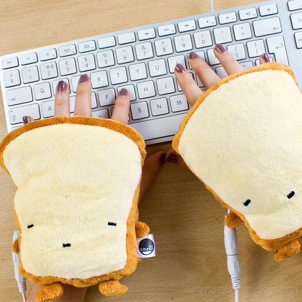 Toast inspired USB hand warmers?? These are amazing!  I totally need these at work.