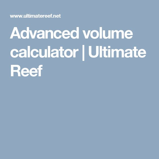 how to calculate fish tank volume in litres