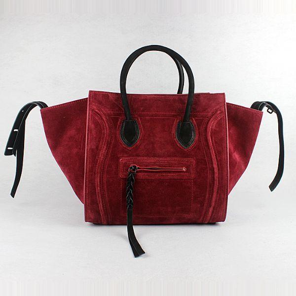 replica celine luggage nano original leather boston bag black 3309
