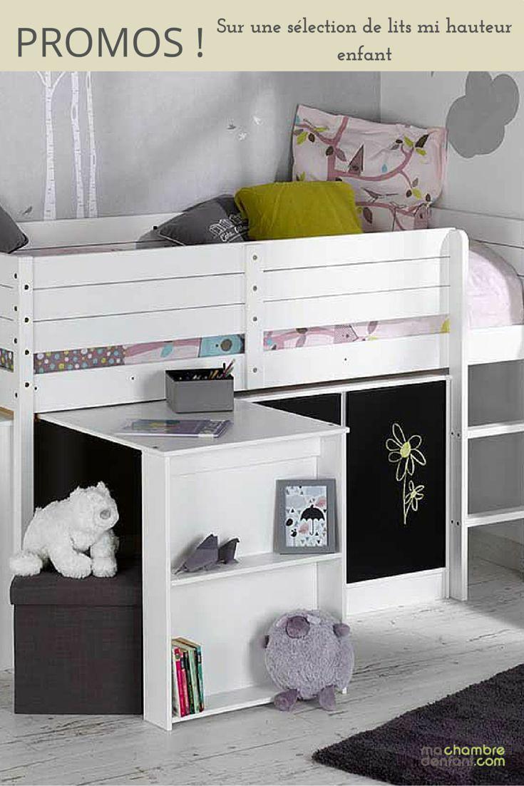 #Promo Optimisez l'espace de votre #chambre #enfant avec un #lit mi-hauteur !