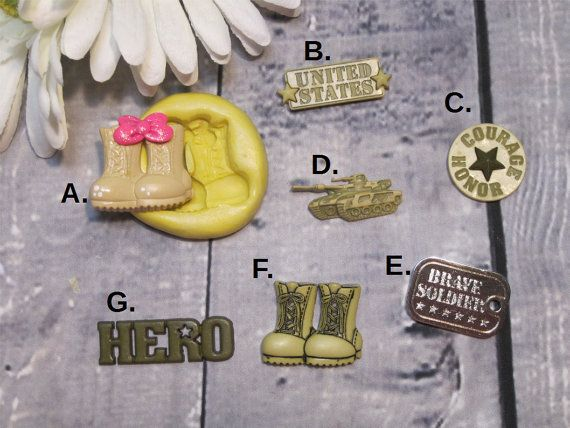 Military Silicone Mold  Solider Mold  Dog Tag Mold by BakersToyBox