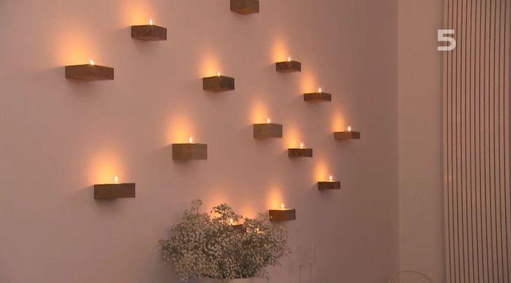 Vt wonen, kaarsen muur