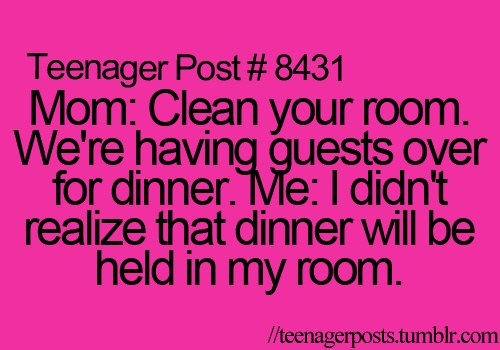 I didn't realize dinner will be held in my room.