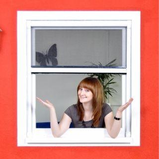 Standard Insektenschutz Rollo für Fenster ohne Bohren zum Klemmen - Fliegengitter Klemmrollo