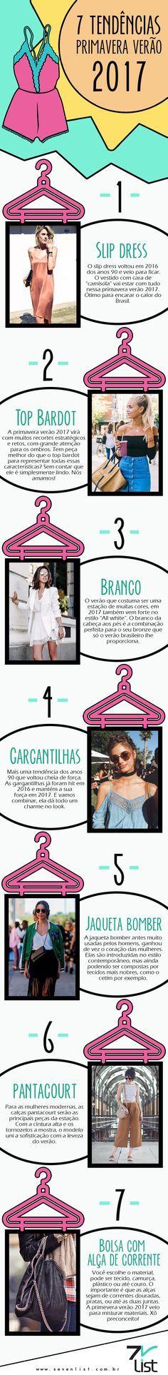 #SevenList #Infográfico #Design #Art #moda #Fashion #Tendências #Verão2017…