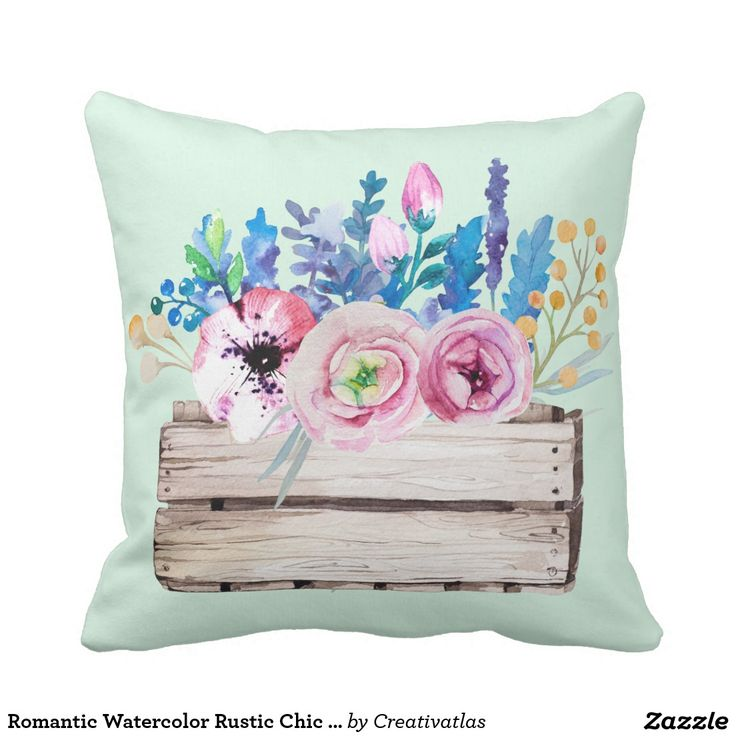 Romantic Watercolor Rustic Chic Floral Bouquet Throw Pillow | Office art decor | home decor online | affordable home decor | art wall decor | hand lettering | home office decor | contemporary wall decor | home & decor | Designer Pillow covers | artistic pillow covers | affordable home decor | home & decor  | country kitchen accessories | Gifts for her | Gifts for moms | home decor gifts | kitchen decor | Gifts for restaurant owners | restaurant decor |