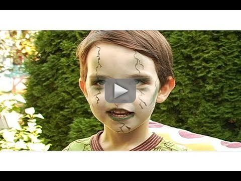 Zombie Makeup for Halloween-- I like this one because its not too gory for kids. ;-)