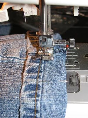 Tiny Tidbits: How to Hem Jeans like a Professional using original hem... No picking out seams!!!