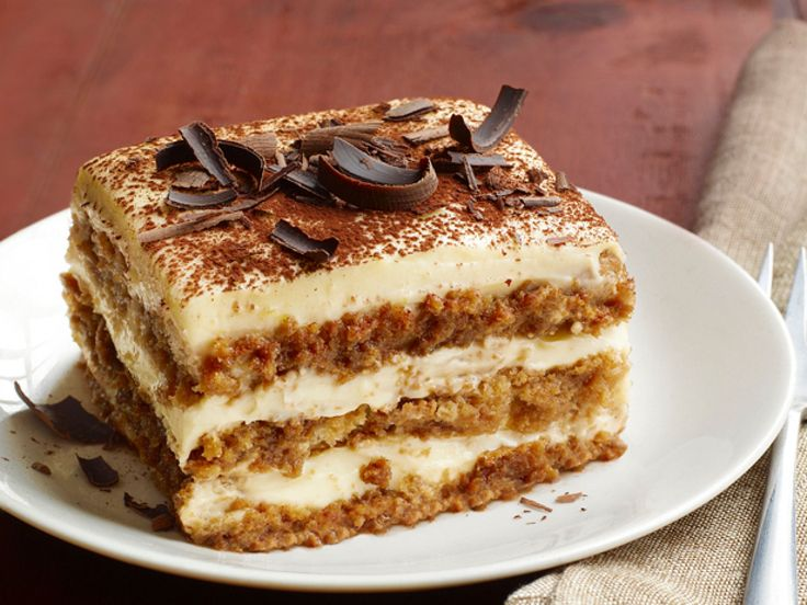 "Tiramisu : This espresso-spiked treat is the ultimate dessert. It means ""pick me up"" in Italian."