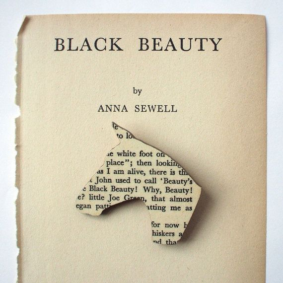Black Beauty - Horse brooch. Classic book brooches made with original pages. on Etsy, $18.82 AUD