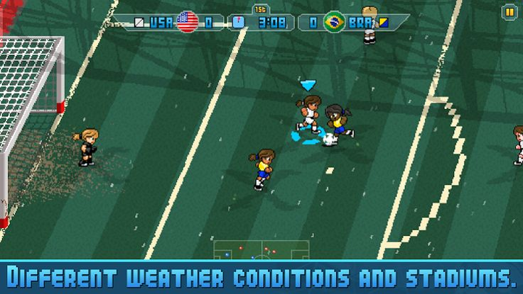 "Pixel Cup Soccer 16 v1.0.4   Pixel Cup Soccer 16 v1.0.4Requirements:4.0Overview: WE ARE EXPERIENCING TWO CRITICAL BUGS ON SOME DEVICES RUNNING ANDROID 7.0 AND 6.0. THATS WHY SOME DEVICES WERE EXCLUDED. WE WILL ADD THEM AGAIN AS SOON AS THESE BUGS ARE FIXED. THANKS FOR YOUR PATIENCE!   ""Pixel Cup Soccer 16 could be the best mobile retro football game yet!"" - Pocket Gamer ""Pixel Cup Soccer 16 is a Great-Looking Arcade Soccer Game"" - Touch Arcade ""The game's visuals and music definitely take me…"