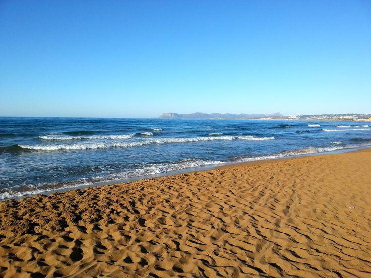 Stalos #beach in #Chania #Crete #Summer Photo credits: @Emma