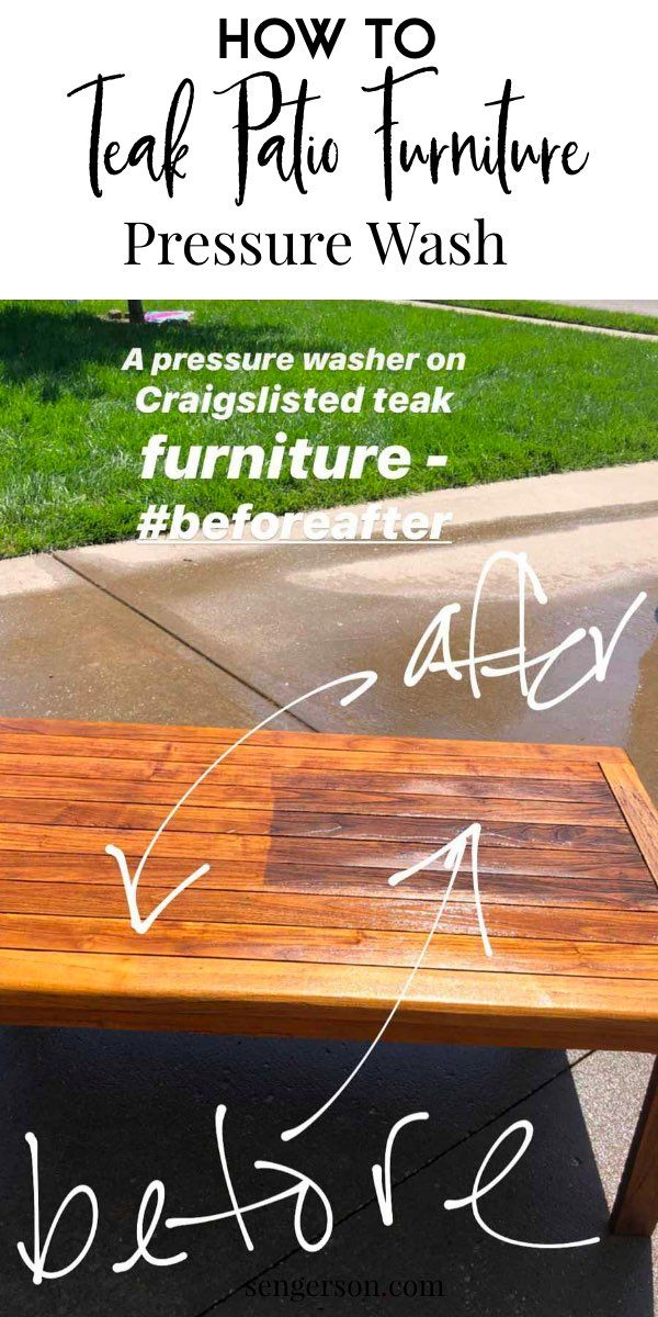 How To Pressure Wash Teak Outdoor Patio Furniture Best Tips And Tricks In 2020 Diy Patio Cushions Teak Outdoor Outdoor Patio
