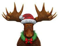 Funny Christmas Moose With Santa Claus Hat - Download From Over 50 Million High Quality Stock Photos, Images, Vectors. Sign up for FREE today. Image: 21985917