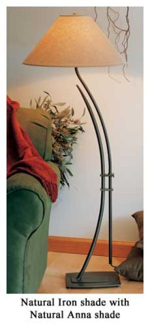 Hubbardton forge wrought iron metamorphic contemporary floor lamp with six shade options
