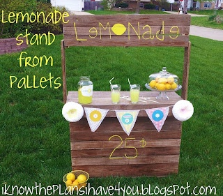 Pallet Lemonade Stand! Spring is here!