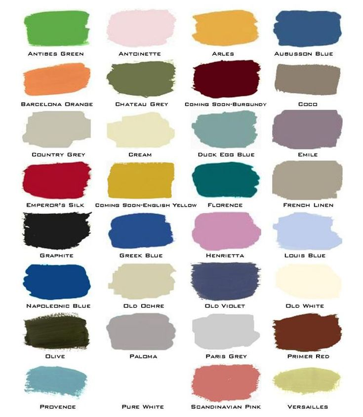 Annie Sloan Color Chart Color Recipes For Painted Furniture Work Book By Annie Sloan By Annie
