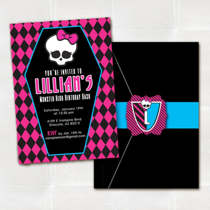 7 best Summer\'s Monster High Party images on Pinterest | 7th ...