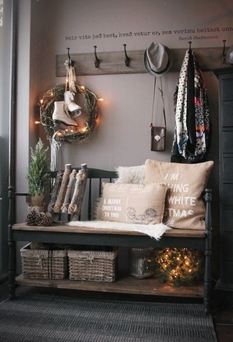 Best 25 hallway bench ideas on pinterest art walls home entrance decor and hall way - Furniture for front entryway ...