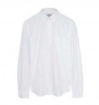 ACNE STUDIOS 'ISHERWOOD' POPLIN SHIRT. White. £155.00