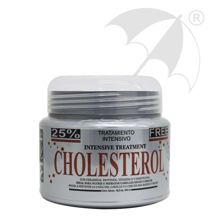 TRATAMIENTO CHOLESTEROL Ideal para cabellos opacos y porosos aporta ceramidas complex y lípidos que recuperan la hidratación natural y disminuyendo el frizz.