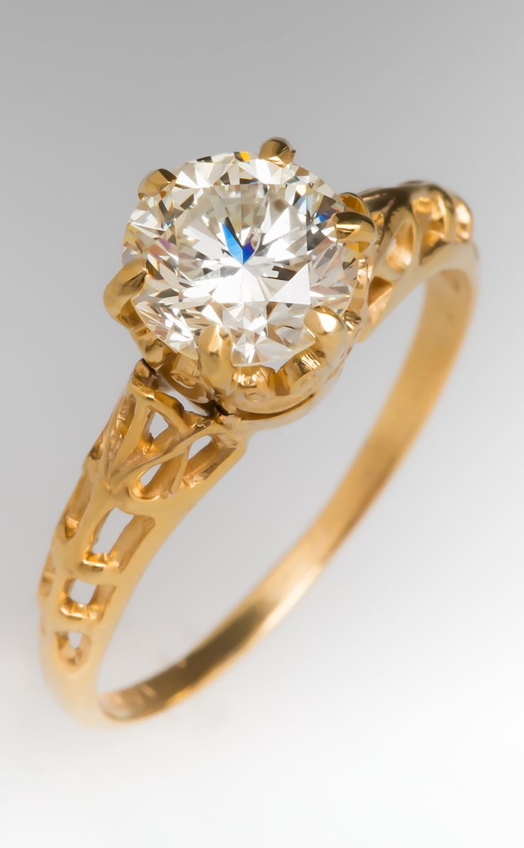 1 Carat Diamond Vintage Engagement Ring