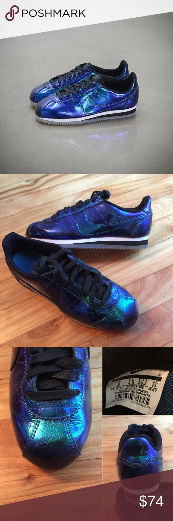 🌺New🌺 NIKE Classic Cortez Leather SE ~ 6 brand new no lid size 6 soar/white/black comes from smoke free home guaranteed 100% authentic A1700039 Nike Shoes Sneakers
