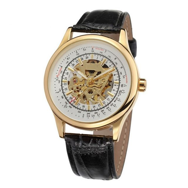 14.18$  Watch now - http://ali1nx.shopchina.info/go.php?t=32725296916 - 2017 Hot Men Military Watch Male Skeleton Wristwatch Leather Luxury Gold Watches Free Shipping New Style Good Watch LZ324 14.18$ #shopstyle