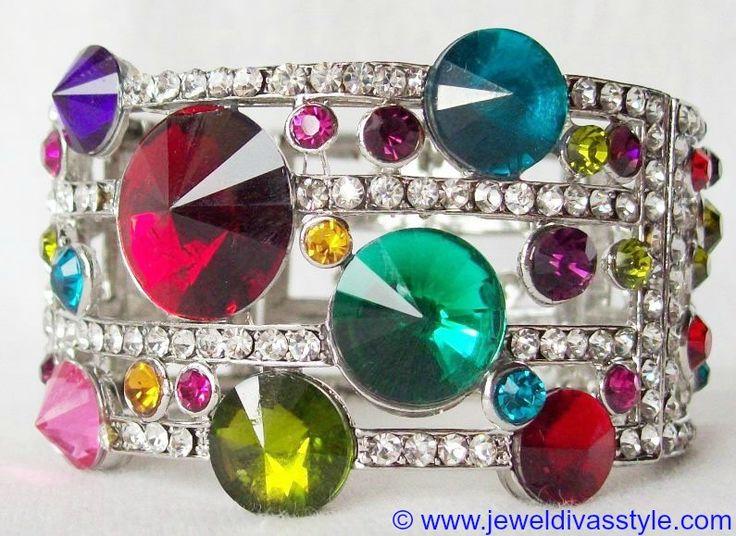 JDS - SILVER MULTI COLOURED BANGLE - http://jeweldivasstyle.com/my-personal-collection-silver-multi-jewellery-10/