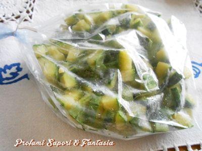 Come congelare le zucchine  passo passo Blog Profumi Sapori & Fantasia