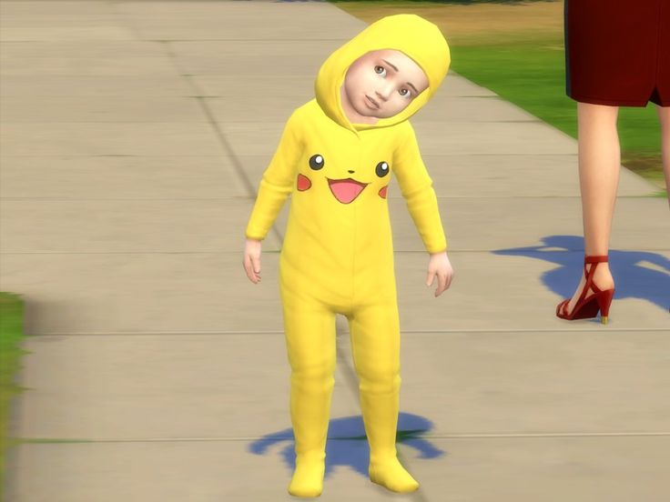 Pikachu can be carried by infants, whether young or girls  Found in TSR Category 'Sims 4 Toddler Female'
