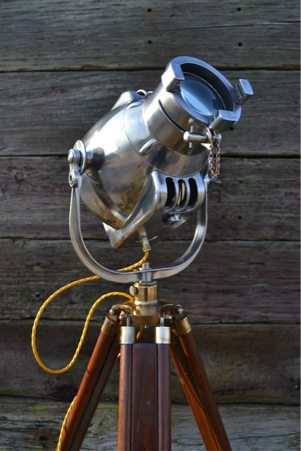super steam punk tripod lamp