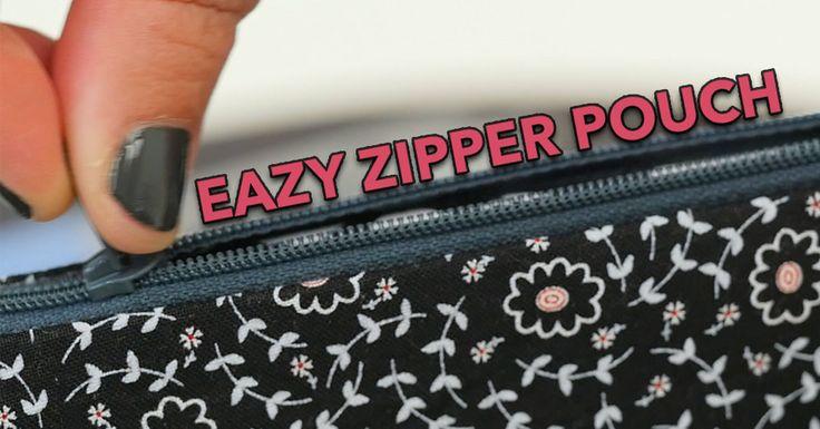 Easy Fat Quarter Zipper Pouch