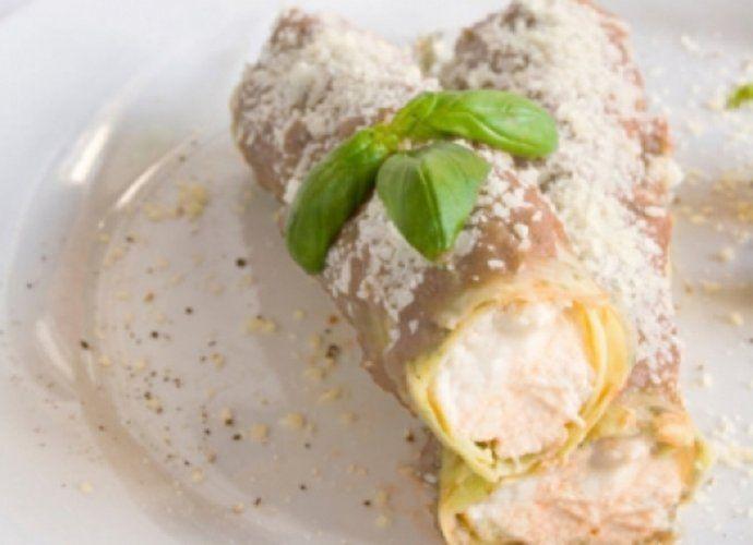 Canelones de marisco con coulis de setas y queso para #Mycook http://www.mycook.es/cocina/receta/canelones-de-marisco-con-coulis-de-setas-y-queso