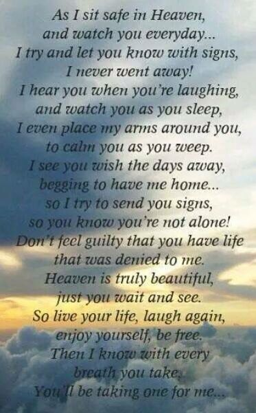 As I sit safe in Heaven