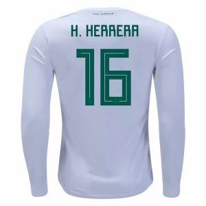 2018 World Cup Jersey Herrera Mexico LS Away Replica White Shirt  CFC11  8418b7b4a