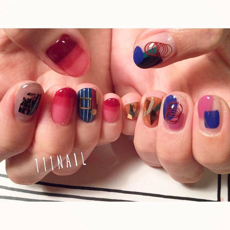 ▫➿⚪▪ #nail#art#nailart#ネイル#ネイルアート#colorful#クリアネイル#ワイヤーネイル#ショートネイル#装苑#inooproject#fashion#ネイルサロン#nailsalon#表参道#ワイヤー111#colorful111 #inoo111