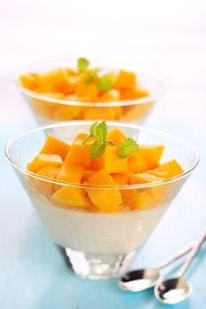 Парфе из рикотты с манго и лаймом