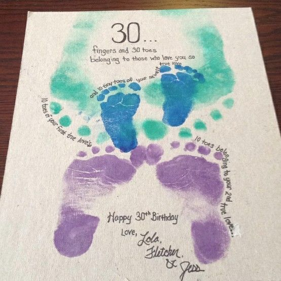 I made this for Kyle for his birthday, with the help of our little Lola and Fletcher. We wanted to help him feel better about turning 30 by by Katniss Liss