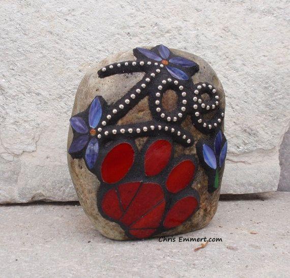 Smaller Pet Memorial Garden Stones  Mosaic by ChrisEmmertMosaic, $99.00
