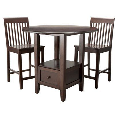 Threshold 3 piece storage pub set new home pinterest breakfast set target and dining - Target dining room tables ...