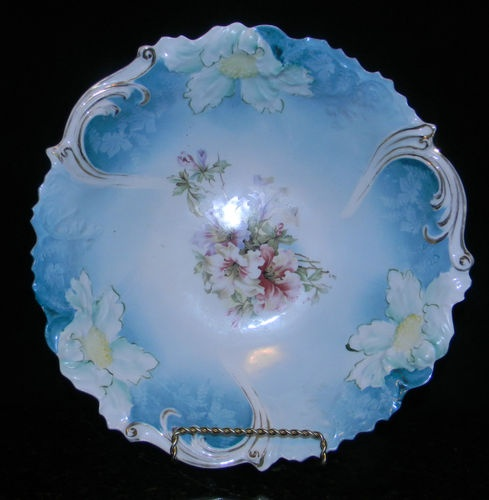 255 best prussia china images on pinterest prussia decorative 1906 rs prussia unger shilde factory alte saxenburg floral bowl steeple mold 3 ebay sciox Gallery