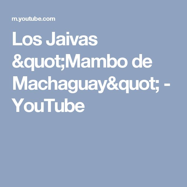 "Los Jaivas ""Mambo de Machaguay"" - YouTube"