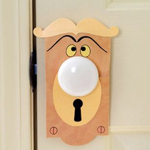 Turn an ordinary doorknob into a talking one. | 21 DIY Ways To Make Your Child's Bedroom Magical