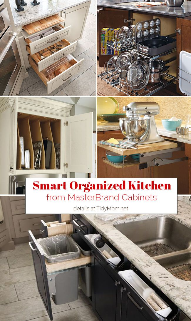 What really makes a kitchen great, is how well it's organized! Smart Organized Kitchen Cabinets from MasterBrand Cabinets keep everything at your fingertips. Learn more at TidyMom.net