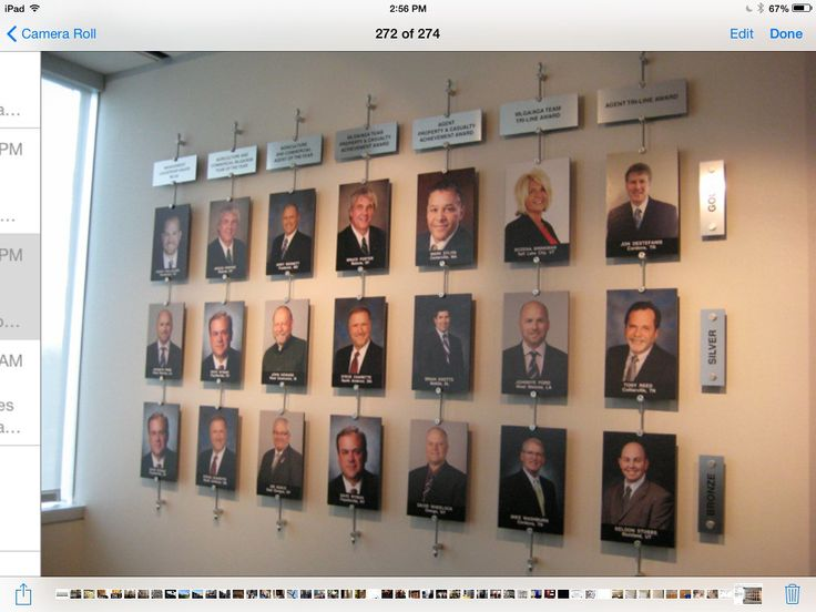 Name on bottom of photo office wall displays pinterest for Office display board