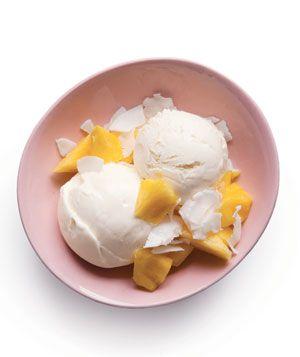 Pina Colada ice cream sundae